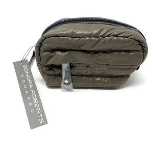 Sondra Roberts Squared Puffer Pouch Green Bag NWT